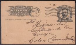 1904-EP-155 CUBA 1904 MARTI POSTAL STATIONERY 1928 TO SPAIN, POSTMARK BAJA EN APARTADOS. - Kuba