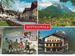 Austria Mittenwald Various Views Postcard Mittenwald 1975 Postmark With Slogan Used Very Good Condition - Austria