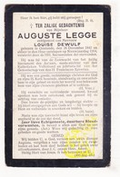 DP Auguste Legge ° Oostende 1842 † 1914 X Louise Dewulf / Medestichter Volksbond - Images Religieuses