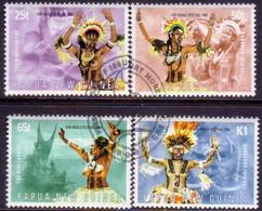 PAPUA NEW GUINEA 1999 SG #864-68 Compl.set+m/s Used Hiri Moale Festival - Papua New Guinea
