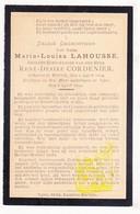 DP Maria L. Lahousse ° Wervik 1854 † Ieper 1903 X René D. Cordenier - Images Religieuses