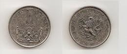 1 Koruna – République Tchèque – 1996 – Nickel Acier – Etat TTB – KM 7 - Tchéquie