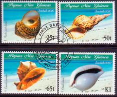 PAPUA NEW GUINEA 2000 SG #873-76 Compl.set Used Sea Shells - Papua New Guinea