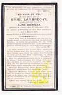 DP Emiel Lambrecht ° Nevele 1875 † 1917 X Aline Dierickx - Images Religieuses