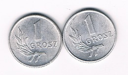 2 X 1 GROSZ 1949 POLEN /3427/ - Poland