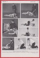Traitement De L'asphyxie Par La Respiration Artificielle. Larousse Médical De 1974. - Old Paper