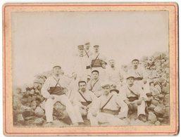 MILITARIA TUNISIE GAFSA CLASSE 1899 VERITABLE PHOTO PRISE EN SEPTEMBRE 1901 PHOTOGRAPHIE GROUPE MILITAIRES COLONIAL - Guerre, Militaire
