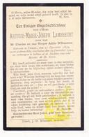 DP Arthur M. Lambrecht / D'Haenens 23j. ° Tielt 1879 † 1902 - Images Religieuses