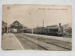 RARE. Spa. Départ D'un Train Vers Pepinster - Spa