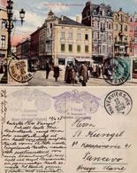 VERVIERS : PLACE DE L'HARMONIE ~ 1920 - '925 - TIMBRE COTÉ VUE / STAMPS ON THE FRONT SIDE - RRR !!! (ac039) - Verviers