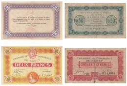 Nancy Billet 2 F Du 11 Novembre 1918 Série A Et 50 C 1921 - Chambre De Commerce
