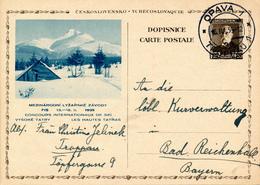 OPAVA / CSSR - 1939 , BPK  FIS-Spiele - Ganzsachen