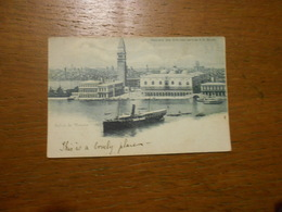 Cpa Saluti Da Venezia Panorama Della Cita Visto Dall'Isola Di S.Gorgio Bateau Gondoles - Venezia (Venice)