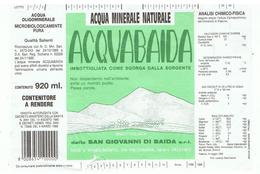 ETIQUETTE D'EAU MINERALE NATURELLE-ITALIE- - Autres