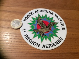 AUTOCOLLANT, Sticker «FORCE AERIENNE TACTIQUE - 1e RÉGION AERIENNE» (militaire, Armée De L'air, Aigle) - Autocollants