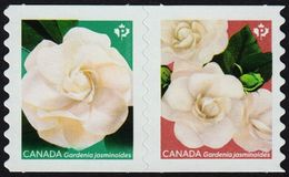 Canada   2019  GARDENIA   Stripe Of 2 COILS  Mnh FROM QUATERLY PACK - Roulettes