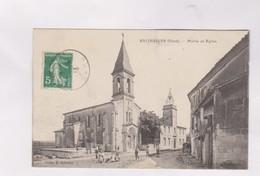 CPA DPT 30 SALINELLES, MAIRIE ET EGLISE En 1917! - France