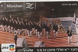 TARJETA TELEFONICA DE ISRAEL. Munchen Olympics Memorial. 504C. BZ-397. (311). - Sport
