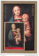 "Ajman 1972 "" Madonna Del Granduca "" Quadro Dipinto Da Raffaello Raphael Sanzio Preobliterato Painting Tableaux - Religieux"