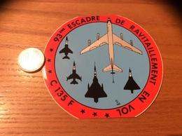 AUTOCOLLANT, Sticker «93eme ESCADRE DE RAVITAILLEMENT EN VOL - C135F» (militaire, Armée De L'air, Avion) - Autocollants