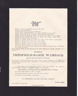 HUMBEEK WETTEREN Théophile WANBACQ 1866-1928 Juge De Paix Du Canton De Wetteren DE WOLF Doodsbrief DE GHEEST - Décès
