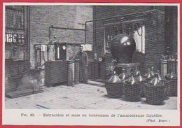 Extraction Et Mise En Bonbonnes De L'ammoniaque Liquéfiée. Larousse Médical De 1974. - Vieux Papiers