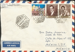 J) 1965 SPAIN, PORTRAIT OF ROMERO DE TORRES, XV YEARS OF PEACE, MULTIPLE STAMPS, AIRMAIL, CIRCULATED COVER, FROM CORDOBA - 1931-Aujourd'hui: II. République - ....Juan Carlos I