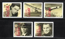 CANADA 2019, CANADIANS In FLIGHT   DIE CUT From QUATERLY PACK - Blocs-feuillets