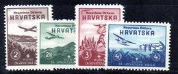 APR443 - CROAZIA 1942 , Serie Unificato Nr.  50/53 *** MNH  (2380A). Pro Aviazione - Kroatien
