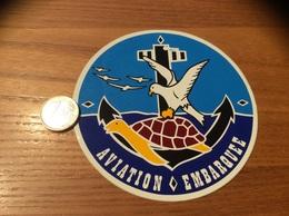 AUTOCOLLANT, Sticker «AVIATION EMBARQUEE» (militaire, Aéronavale, Ancre, Tortue, Mouette) - Autocollants