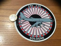 AUTOCOLLANT, Sticker «ERV 2/93 SOLOGNE» (militaire, Armée De L'air, Escadre De Ravitaillement En Vol, Avion) - Autocollants