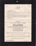GAND BRUXELLES OOSTAKKER Paul WAUTERS Inspecteur Général 1864-1922 Familles HYE HOYS GRISAR Van LOO - Décès