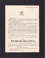 Château De Pair William De WAUTIER Veuf De PINTO Nandrin 1886 - Seny 1929 De MEESTER De BETZENBROECK D'HOFFSCHMIDT - Décès