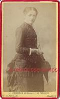 CDV Corse-jeune Femme Avec Ombrelle Vers 1880-mode-photo Cardinali à Ajaccio - Photographs