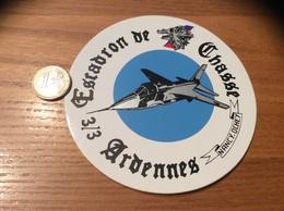 AUTOCOLLANT, Sticker «Escadron De Chasse 3/3 - Ardennes» (militaire, Armée De L'air, Avion, Sanglier) - Autocollants