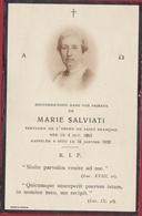Marie Salviati 1932 Danesi Roma Italia Doodsprentje Bidprentje Image Mortuaire - Images Religieuses