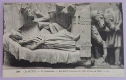 """CPA CHARTRES  """" LA CATHÉDRALE BAS RELIEF PROVENANT DU JUBE """" - Chartres"""
