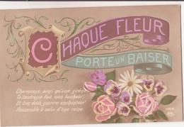 CP - CHAQUE FLEUR PORTE UN BAISER - Fleurs