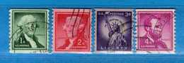 (Us2) USA °- 1954-1961 - Liberty. D 10 Verticale  Unif. 844-845-847-848.   USED.  Vedi Descrizione - Oblitérés
