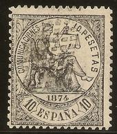 España Edifil 152 (º) 10 Pesetas Negro  Alegoría De La Justicia  1874  NL894 - 1872-73 Royaume: Amédée I