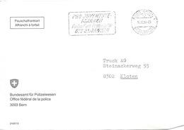 """Motiv Brief  """"Bundesamt Für Polizeiwesen""""          1984 - Suisse"""