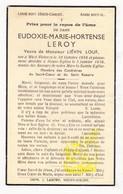 DP Eudoxie M. Leroy ° WestVleteren Vleteren 1856 † Nieuwkerke Heuvelland 1936 X Lievin Louf - Images Religieuses