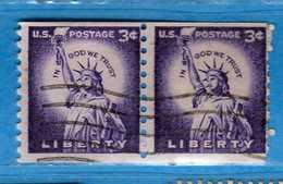 (Us2) USA °- 1954-1961 - Liberty. D 10 Verticale  Unif. 847.   USED.  Vedi Descrizione - Stati Uniti