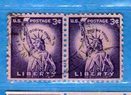 (Us2) USA °- 1954-1961 - Liberty.  Unif. 823.   USED.  Vedi Descrizione - Stati Uniti