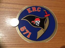 AUTOCOLLANT, Sticker «ERC 571» (militaire, Armée De L'air, 1re Escadrille De L'escadron 3/5 COMTAT VENAISSAIN) - Autocollants
