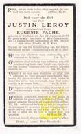 DP Justin Leroy ° WestVleteren Vleteren 1859 † West Nieuwkerke Heuvelland 1928 X Eug. Fache - Images Religieuses
