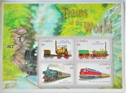 Gambia 2003**Mi.5104-07. Trains Of The World , MNH [8;10] - Trains