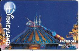 PASS-DISNEYLANDPARIS -1996-SPACE MOUNTAIN-ADULTE-V° N° S 049532 VERTICAL A Droite-MKC VALIDE 1 JOUR-TBE- - France