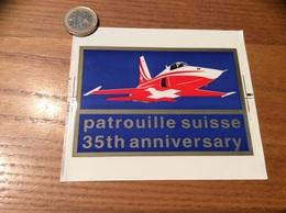 AUTOCOLLANT, Sticker «patrouille Suisse - 35th Anniversary» (militaire, Avion) - Autocollants