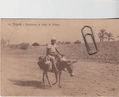 Tripoli Libia Portatore Di Latte Di Palma Mestieri - Libia
